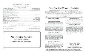 Church Program Templates Free Download Free Printable Church Bulletin Templates Baptist Program