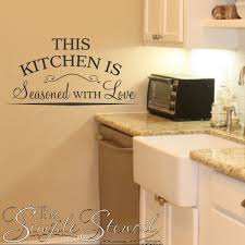 this kitchen is seasoned with love vinyl wall lettering decor