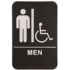 Amazon Rock Ridge Unisex Restroom Sign BlackWhite ADA Adorable Unisex Bathroom Signs