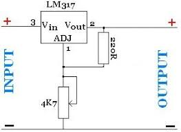 lm adjustable power supply reuk co uk adjustable power supply lm317 voltage regulator pictured above is the circuit diagram