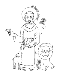 St Francis Of Assisi Printable Coloring Page Colouring