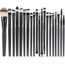 amazon emaxdesign 20 pieces makeup brush set professional face eye shadow eyeliner foundation blush lip makeup brushes powder liquid cream cosmetics