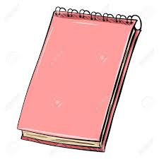 single cartoon pink spiral notebook on white background stock vector 71631548
