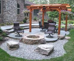 patio designs with fire pit. Backyard Fire Pit Ideas With Gravel Great For Patio  Design Best Designs S