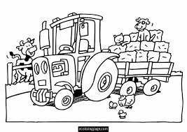 tractor color pages. Unique Tractor Tractor Coloring Sheet  In Tractor Color Pages O