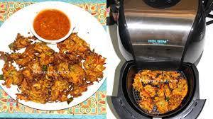 how to air fry crispy veg pakore or