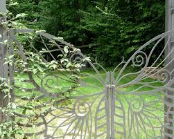 Small Picture Garden Arbor with Gate Butterfly Gates and Arbor make a