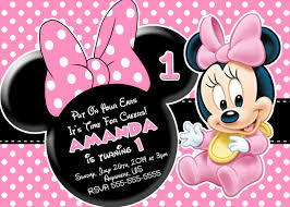 Minnie Mouse Blank Invitation Template Minnie Mouse Birthday Invitations Personalized Photo Minnie Mouse