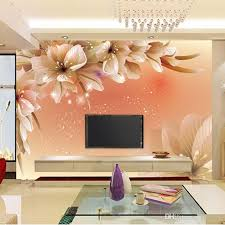 Small Picture Custom Luxury Wallpaper Elegant Flowers Photo Wallpaper Silk Wall