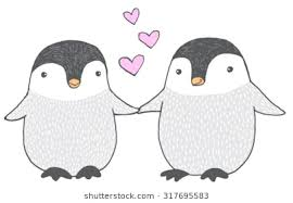 baby penguin drawing.  Baby Cute Hand Drawn Vector Sketch Of Two Baby Penguins Holding Hands For Baby Penguin Drawing