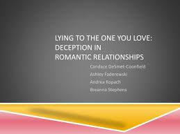PPT Lying To The One You Love Deception In Romantic Relationships Impressive Love Deception