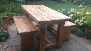 rustic wooden outdoor furniture. Simple Wooden View Larger And Rustic Wooden Outdoor Furniture