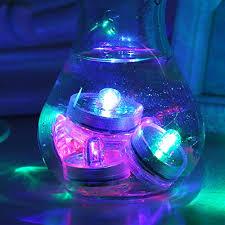 Vase lighting Submersible Light Submersible Underwater Led Lights Waterproof Tea Lights For Wedding Centerpiece Under Vase Lighting Floral Arrangements Xmas 100percentsportorg Submersible Underwater Led Lights Waterproof Tea Lights For Wedding