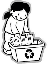 Earth Day Coloring Page Girl Recycling