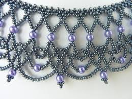 Free Beading Patterns To Download Adorable FREE Beading Pattern For Necklace Lacy Net BeadDiagrams