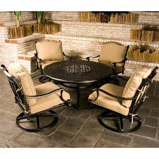 fire pit table set cau outdoor patio furniture fire pit set family leisure fire pit table