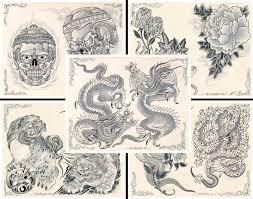 эскиз для татуировки Huge Tattoo Flash Collection Lot Traditional