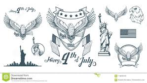 Traditional Symbols Set For Design Of America S Independence Day Traditional Symbols Of