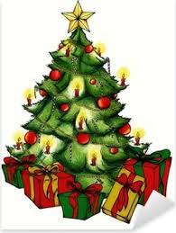Obraz na plátně Santa Claus dávat dárky pod vánoční stromeček • Pixers® •  Žijeme pro změnu