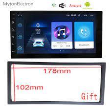 2 Din araba android müzik seti bluetooth'lu gps'li navigasyon WIFI Video 7  inç otomatik musluk PC masa evrensel araba multimedya oynatıcı|Car  Multimedia Player