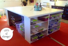 Craft Tables With Storage Attempting To Organize Your Creativity for Large  Craft Table