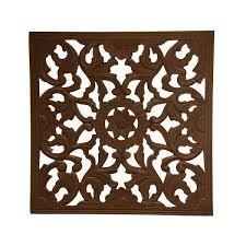 fetco zaria espresso square medallion wooden wall art