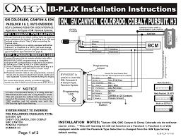 Passlock Light Ion Gm Canyon Colorado Cobalt Pursuit H3 Manualzz Com