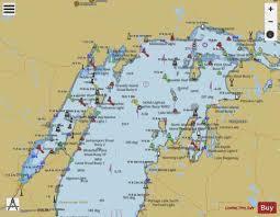 Lake Michigan Nautical Chart North End Of Lake Michigan Including Green Bay Marine Chart