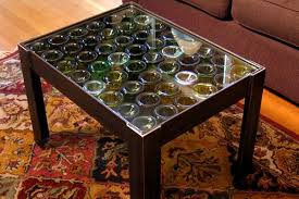 table recycled materials. Recycled Wine Bottle Coffee Table Materials S