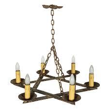 six lamp star of david bronze chandelier for