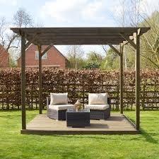 wooden pergola and decking kit