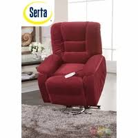 serta lift chair. Serta Comfortlift Bristol Red Wall Hugger Reclining Lift Chair With USB Outlet F