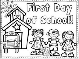 Small Picture Printable first day of school coloring page Coloringpagebookcom