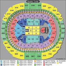 Seating Chart With Rows For Concerts Staples Center