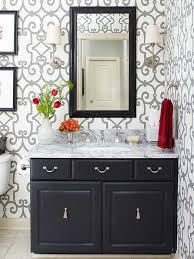 Refinishing Bathroom Vanity Best Painting Bathroom Cabinets Better Homes Gardens