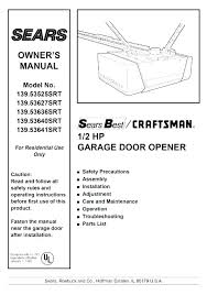 craftsman garage door opener manual craftsman garage door opener manual large size of chamberlain sensor home craftsman garage door opener manual 41a5021 3m
