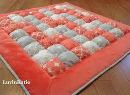Bubble Quilt Puff Quilt Biscuit Quilt Bubble Blanket for Baby ... & Bubble Quilt Puff Quilt Biscuit Quilt Bubble Blanket for Baby Floor Time  Tummy Time Mat CORAL Adamdwight.com