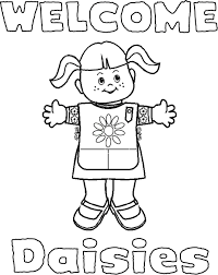 Daisy Girl Scout Coloring Pages Daisy