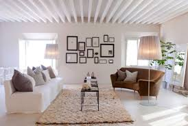 Living Room Ideas : Modern Rustic Living Room Contemporary Elegant Ideas  White Theme Color Design With Soft Brown Carpet Collection Ideas 2016  Awesome ...
