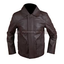 indiana jones harrison ford brown grade a genuine leather or faux mens jacket