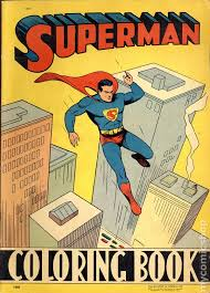 Great gift for your favorite super hero enthusiast! Superman Coloring Book 1940 Saalfield Comic Books