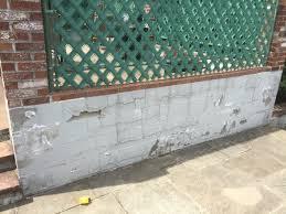 cinder block wall repair. Interesting Cinder Old Cinderblock Wall In Cinder Block Wall Repair N