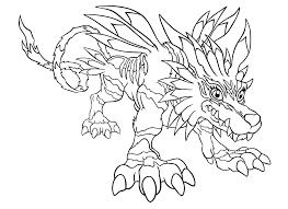 Small Picture Digimon coloring pages gabumon evolution garurumon ColoringStar