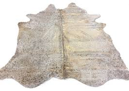devore metallic gold on beige cowhide rug 7 x7 5 contemporary novelty rugs by cowhide texas inc