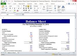 assets and liabilities spreadsheet template. Free Balance Sheet Excel Template For Financial Reports