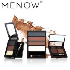 menow brand makeup waterproof lasting multicolor eyebrow with pencil brush natural eyebrow cosmetic kit whole
