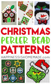 Perler Beads Patterns Cool Christmas Perler Bead Patterns Happiness Is Homemade