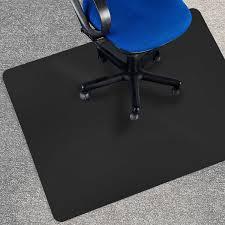 Etm Black Polycarbonate Office Chair Mat 90x120cm 3 X4 Office Chair Mats For Carpet