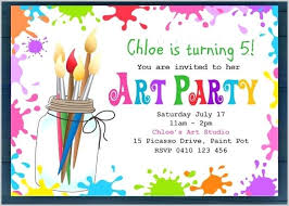 children party invitation templates awesome unicorn party invitation template or kids card children