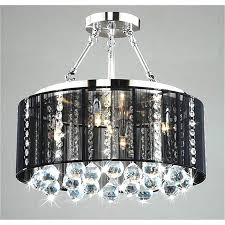 crystal chandelier with black drum shade lightings and lamps pertaining to modern property black drum shade crystal chandelier ideas